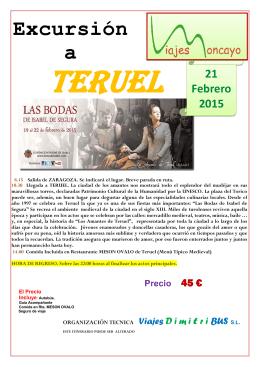 Teruel 2015 - Viajes Moncayo