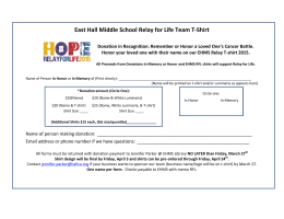 East Hall Middle School Relay for Life Team T