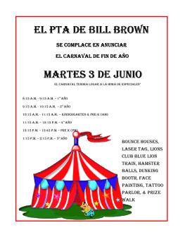 el pta de bill br martes el pta de bill brown martes martes 3 de junio