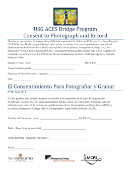 USG ACES Bridge Program Consent to Photograph and Record El