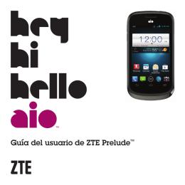Guía del usuario de ZTE Prelude™