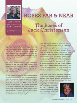 The Roses of Jack Christensen