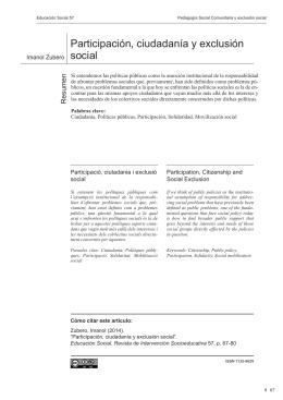 Participación, ciudadanía y exclusión social