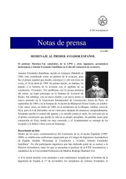 Homenaje al primer aviador español