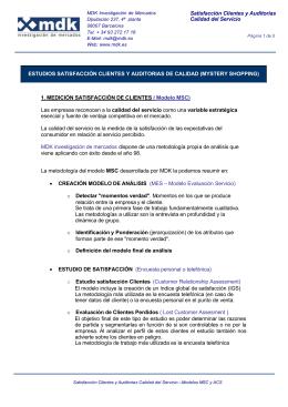 Obtener más información sobre estudios de Satisfacción de clientes