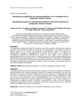 Marcadores ecográficos de cromosomopatías en el I