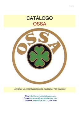 CATÁLOGO OSSA - Motos del Abuelo