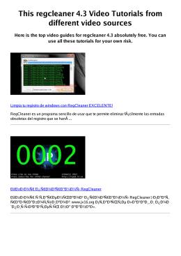 #Z regcleaner 4.3 PDF video books