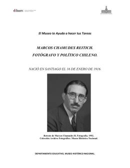 marcos chamudes reitich. fotógrafo y político chileno.
