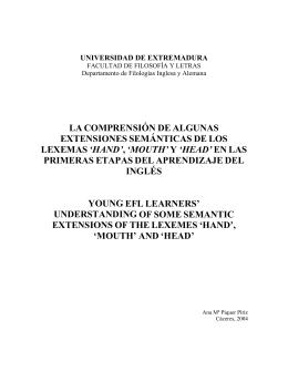 LA COMPRENSIÓN DE ALGUNAS EXTENSIONES SEMÁNTICAS