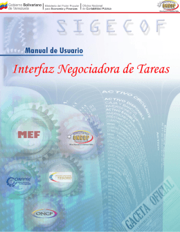 Ingreso en la Interfaz Negociadora de Tareas - ONCOP