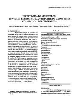 HIPERTROFIA DE MASETEROS: REVISION