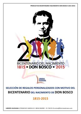 BICENTENARIO 1815-2015 DON BOSCO