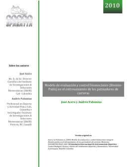 Modelo de evaluación y control biomecánico (Biomin