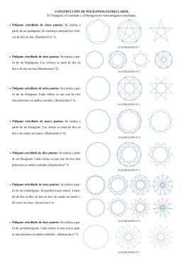 • Polígono estrellado de cinco puntas: Se realiza a partir de un
