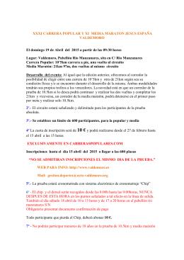 Clasificación - Carreraspopulares.com