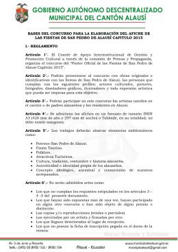 BASES DEL CONCURSO PARA LA ELABORACIÓN DEL AFICHE