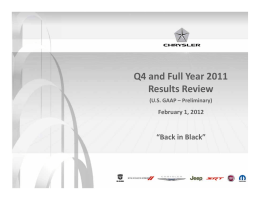 Q4 and Full Year 2011 Results Review