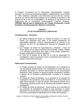 Manual para la Elaboración de Trabajo de Grado
