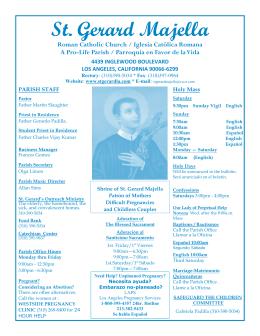 viernes santo - St. Gerard Majella