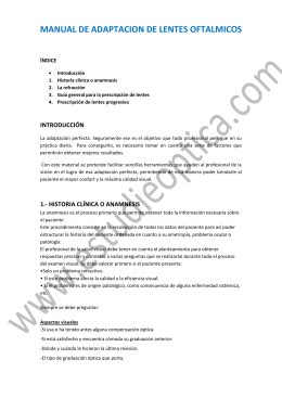 manual de adaptacion de lentes oftalmicos