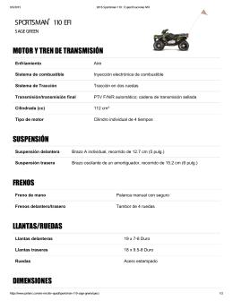 sportsman 110 efi motor y tren de transmisión suspensión