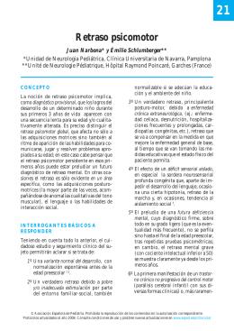 21. Retraso psicomotor - Asociación Española de Pediatría