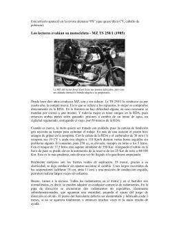 Los lectores evalúan su motocicleta - MZ TS 250/1
