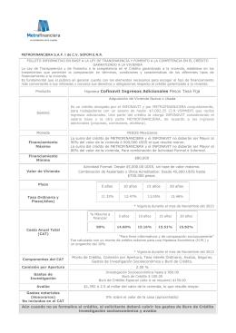 Hipoteca Cofinavit Ingresos Adicionales Pesos