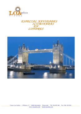 ESPECIAL NAVIDADES ILUMINADAS EN LONDRES