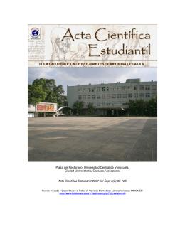 Año 2007. Número 3 - Acta Científica Estudiantil
