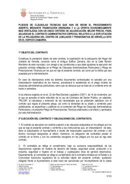 PLIEGO TECNICO PELUQUERÍA ZAMARRA