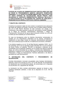 PLIEGOS administrativos PELUQUERIA ZAMARRA