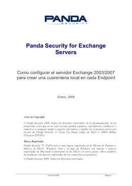 Panda Security for Exchange Servers