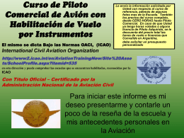 Diapositiva 1 - Flying Time, Escuela de Vuelo