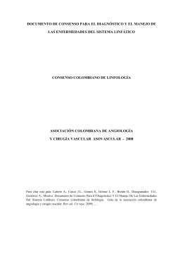 Enfermedad linfática. - Asociación Colombiana de Angiología y