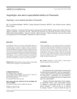 Angiología: una nueva especialidad médica en
