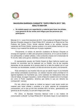"""INAUGURA BARRAZA CHIQUETE """"EXPO PIÑATA 2013"""" DEL"""