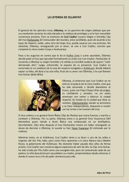 LA LEYENDA DE OLLANTAY