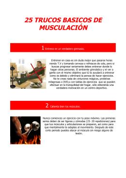 25 trucos basicos de musculación - Programas de entrenamiento y