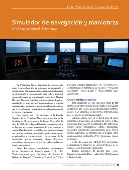 Simulador de navegación y maniobras