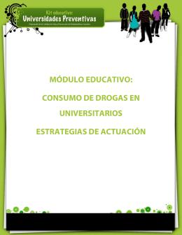 Consumo de drogas en universitarios.