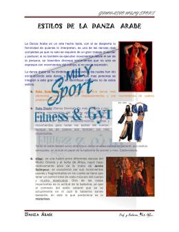 Estilos de la Danza Arabe - INICIO Gimnasio Mily Sport