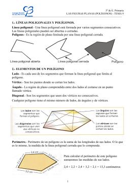 1.- LÍNEAS POLIGONALES Y POLÍGONOS. Línea poligonal.