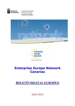 Boletín Digital Europeo EEN Canarias Nº4-2012