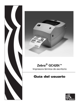 GC420t Guía del usuario (es) - Zebra Technologies Corporation