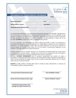 documento de consentimiento informado