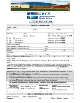 Medical office registration form - Greater Brunswick Charter School