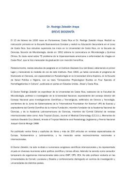 Rodrigo Zeledón Araya - Consejo Nacional para Investigaciones