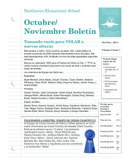 Octubre/ Noviembre Boletín - Northaven Elementary School